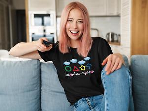 Netflix Korean TV Show Squid Game T-shirt Womens Mens Kids Black Top