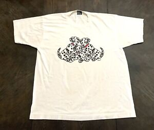Vintage Dalmatian Dog T-shirt Tshirt Fruit Of A Loom Best Size XL Made In USA