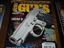 GUNS  magazine  february  2017  Kimber micro 9 ,  sig M400 Predator    J-13