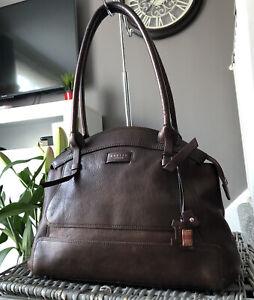 Beautiful Radley Clayton Medium Brown Leather Tote Bag Handbag RRP £179