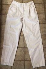 Ralph Lauren White High Waisted Pants Slacks Women's 8 100% Cotton
