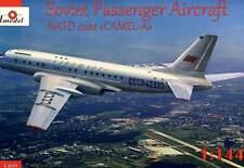 Amodel Aeroflot Tupolev Tu-104 NATO code Camel-A airliner 1:144 Bausatz kit NEU