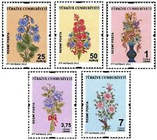 TURKEY 2012, OFFICIAL STAMPS, TRADITIONAL TURKISH ORNAMENT ARTS, FLOWERS, MNH
