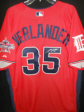e9d02ac82cf JUSTIN VERLANDER SIGNED 2010 ALL STAR JERSEY AUTH. MAJESTIC DETROIT  TIGERS-RARE!