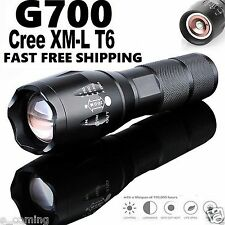 BRIGHT 5000Lumen G700 Tactical Flashlight Cree LED Military Alonefire ShadowHawk