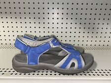 Clarks In Motion Quaid Womens Adjustable Sport Sandals Slides Size 8 Gray Blue