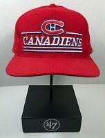 Vintage Montreal Canadiens Starter snapback hat cap NHL streetwear retro logo
