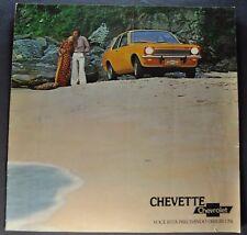 1976 Chevrolet Chevette Brochure Brazil Market Portuguese Text Original 76