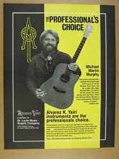 1986 Michael Martin Murphey photo Alvarez Yairi Guitar vintage print Ad