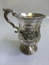 Antique Mid 19th Century Continental Silver Decorative Drinking Cup / Mug