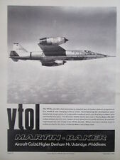 9/1966 PUB MARTIN BAKER ROCKET ASSISTED EJECTION SEAT MK.GA7 VTOL VJ101C AD