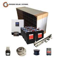 COMPLETE OFF GRID SOLAR KIT/ 2.4KW PANELS 48V320AH BATTERY/ 4kW INVERTER CHARGER