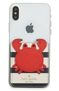 Kate Spade New York Crab Sticker Pocket New with Tags