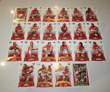 SYDNEY SWANS 2005 AFL SELECT PREMIERS PREMIERSHIP 22 CARD SET ADAM GOODES HALL