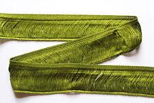 2 m Fransenborte, grün, Breite: ca. 47 mm, Material: 100 % Viskose