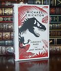 Jurassic Park Lost World by Michael Crichton New Sealed Leather Bound Classics