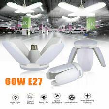 4PCS E27 LED Garage Light Bulb Deformable Ceiling Fixture Lights Workshop Lamp