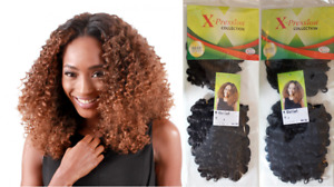 """Xpression Vivi Curl Weave Synthetic Hair 11"""" Extensions 120g UK Stock"""