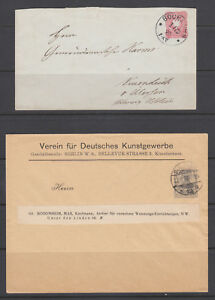 Germany Mi U12A, PU23 used. 1877 10pf envelope, 1902 20pf Printed to Private Ord