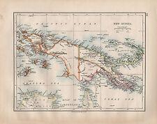 1902 VICTORIAN MAP ~ NEW GUINEA BISMARCK ARCHIPELAGO NEW BRITAIN TORRES STRAIT