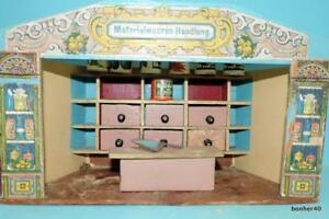 CHILDRENS ANTIQUE GERMAN DUTCH DOLLHOUSE 1920s GERMAN SHOP