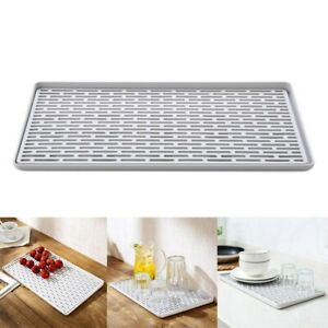 Washing Holder Kitchen Organizer Double Layer Drainer Cup Bowl Tray Drying Rack