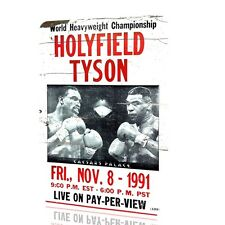 METAL WALL SIGN Tyson Holyfield POSTER Classic BOX Fight Nov 8 1991 Decor RUSTED