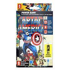 Marvel Capitán América Power Bank Portátil Cargador USB Universal 6000mAh Batería