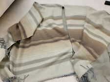 River Island Blanket Scarf Poncho Khaki And Brown large overcoat