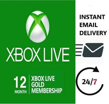 XBOX LIVE GOLD MEMBERSHIP 12 MONTH KEY 🔑 VPN REQUIRED INSTANT MAIL DELIVERY 📧