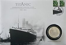 TITANIC.2012 ALDERNEY TITANIC £5 FIVE POUND SILVER PROOF COIN FIRST DAY COVER
