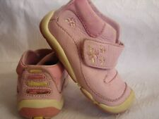 Stride Rite SRT Pink leather Sneaker Boots, Baby Toddler Girl's Size 4M