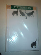 OTTER HOUSE WRITING PAPER VOGUE (BLACK CATS)  20 SHEETS & ENVELOPES  ENGLAND