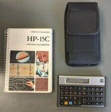 Hewlett Packard Hp 12C Financial Calculator 1982 +Owner's Handbook +Case