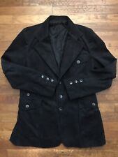 Vintage Corduroy Black Blazer Jacket The Great American Clothing Company Large