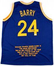 Rick Barry Signed Warriors Career Highlight Stat Jersey (JSA COA)