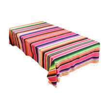 Mexican Serape Table Runner Tablecloth Blanket Car Seat Cover Party Home Decor