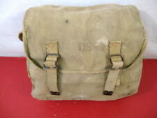 WWII US Army M1936 Canvas Musette Bag or Pack Khaki - British Made - Dated 1944