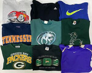 Wholesale Lot of 20 Vintage Sweatshirt Hoodies Graphic Sports College Resale 90s