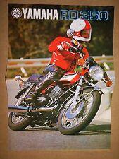 YAMAHA RD 350 PROSPEKT 1973 MITSUI JAPAN DEUTSCHER MEISTER 1970 OLDTIMER