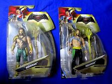 Superman V Vs. Batman 2 Dif Aquaman Figures Gold Trident & Yellow Belt & Trident
