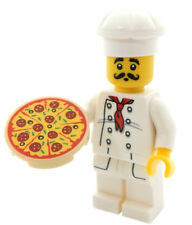 NEW LEGO PIZZA CHEF MINIFIG minifigure figure food guy cook restaurant mustache