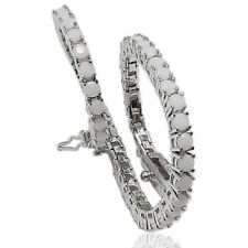 Bracciale tennis mm 3 in argento 925 rodiato con zirconi bianco crystal cm 21