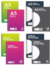 A4 A5 SPIRAL BOUND NOTEPAD BOOK LINED RULES 80 160 PAPER WIRED OFFICE JOTTER PAD