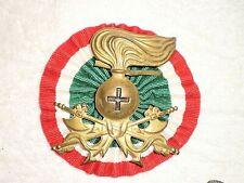 Ww2 Italian Africa pith helmet badge, original
