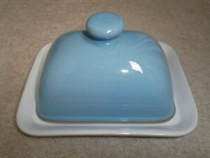 SUPERB RARE VINTAGE DENBY COLONIAL BLUE BUTTER DISH EXCELLENT BARELY USED COND