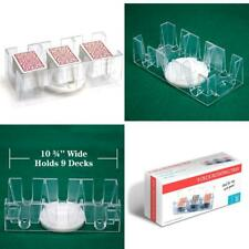 9-deck Acrylic Rotating/Revolving Canasta Card Game Tray / Cards Holder, Clear