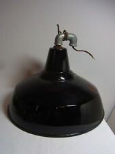 Black German Enamel Industrial Design Bauhaus Ceiling Lamp #<