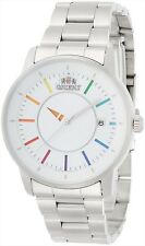 NEW ORIENT STYLISH AND SMART DISK WHITE RAINBOW WV0821ER Men's Watch