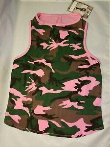 Dog Canine Pink Camo Tank Size Large NWT